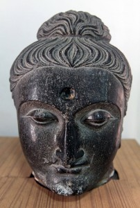 Buddha head from the 1st-century AD.
