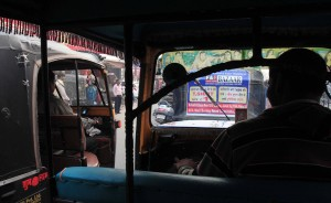 Riding inside an auto rickshaw in Patna.