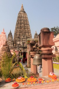 Another view of the Mahabodhi Stupa.