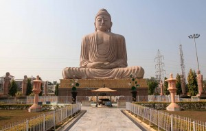 Eighty-foot tall statue of Buddha in meditation pose.