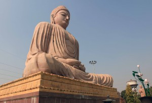 Angle view of the giant Buddha statue.