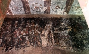 Painting inside Cave No. 9 at Ajanta Caves.