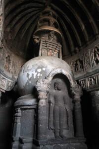 Stupa inside Cave No. 19.