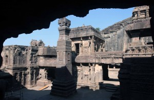Another view inside the Kailasa Cave temple.