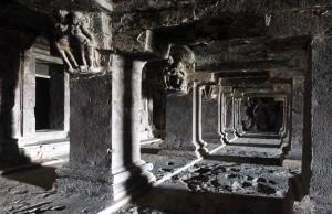 Colonnade inside Dasavatara Cave.