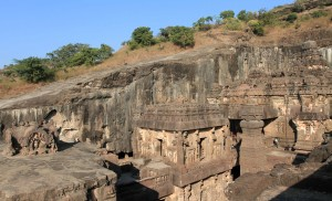 One last view of the Kailasa Cave temple.