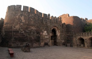 The Mahakot (second line of defense) in Daulatabad Fort.