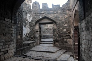 Inside a gate structure in Daulatabad Fort.