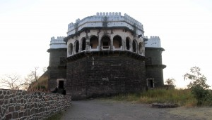 The citadel in Daulatabad Fort.
