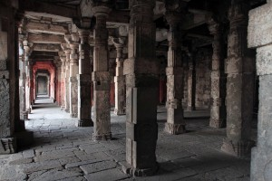 Colonnade in Bharatmata temple.