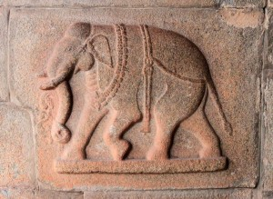 Bas-relief of an elephant.