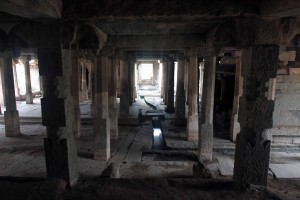 Inside Prasanna Virupaksha temple (also known as the Underground Shiva temple).