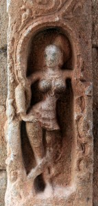 Female relief sculpture in Achyutaraya temple.
