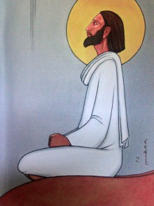 'Jesus Christ - My Guru and Master' - Indian Christian art on display in Old Goa.