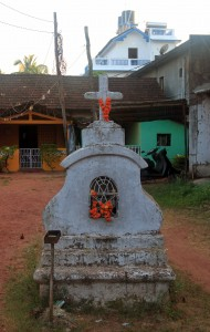 A Christian shrine in Goa - influenced by Hindu culture no doubt.