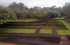 Ruins of the Audience Hall of Nissankamalla at Dipauyana (Island Park) in Polonnaruva.