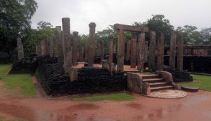 Atadage (the Temple of the Tooth built by King Vijayabahu the Great), located in the Sacred Quadrangle.