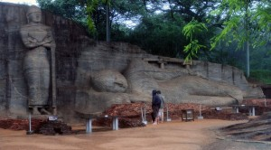 Reclining Buddha sculpture at Gal-Vihara.