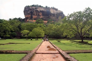 The path through the water garden to Sigiriya.