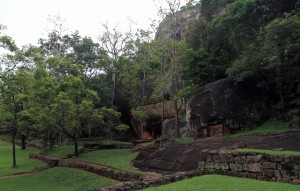 The boulder garden at the foot of Sigiriya.