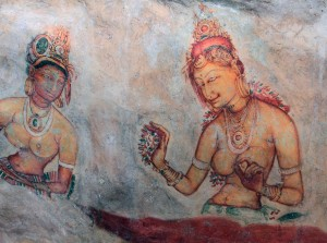 Some more well-preserved paintings on the side of Sigiriya.