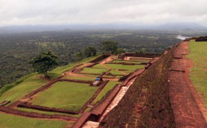 The palace ruins on top of Sigiriya.