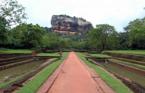 Looking at Sigiriya again from the water garden.