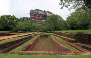 Another view of Sigiriya from the water garden.