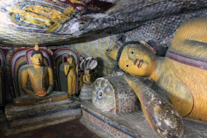 Another reclining Buddha in a small cave in Dambulla.