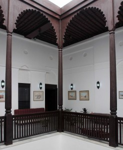 Inside the Omani-French Museum, the building used to be the residence of the French Consul.