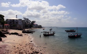 The beach next to Stone Town.