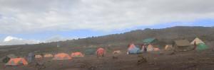 """Shira Cave Camp looking like """"No Man's Land""""."""
