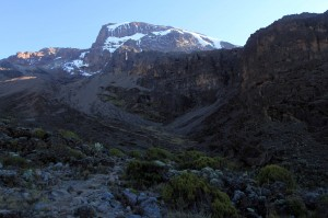 View from Barranco Camp in the morning.