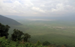 View of Ngorongoro Crater.
