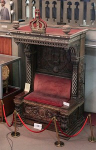 A throne of Emperor Haile Selassie I.