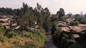 Slums in Addis Ababa.