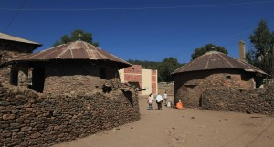 Stone huts in Axum.