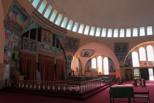 Inside the Church of Our Lady Mary of Zion.