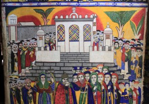 Painting of the Timkat celebration in Axum.
