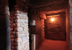 Inside Gebre's tomb.