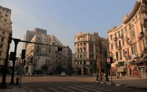 Circle in downtown Cairo.