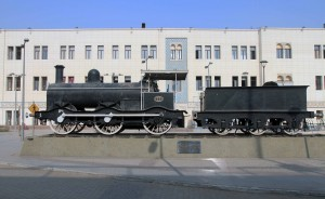 Steam Locomotive No. 986 (fabricated in 1865) on display in front of Ramses Railway Station.