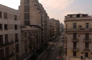 Street in downtown Cairo seen from the hotel I stayed at.