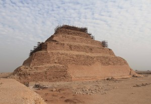 Another view of Djoser's step pyramid, built during the Third Dynasty.