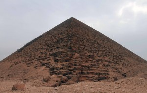 The Red Pyramid seen from one of its corners.