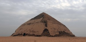 The Bent Pyramid, the second pyramid built by Pharaoh Sneferu (before perfecting the design with the Red Pyramid).