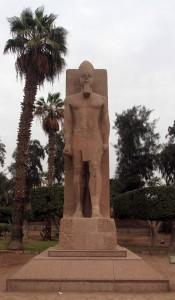Statue of Ramses II at Memphis.