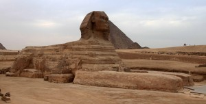 The Sphinx of Giza.