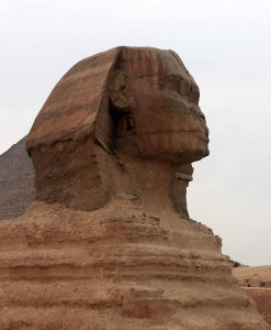 Closeup of the Sphinx.