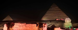 The Sound and Light Show at Giza.